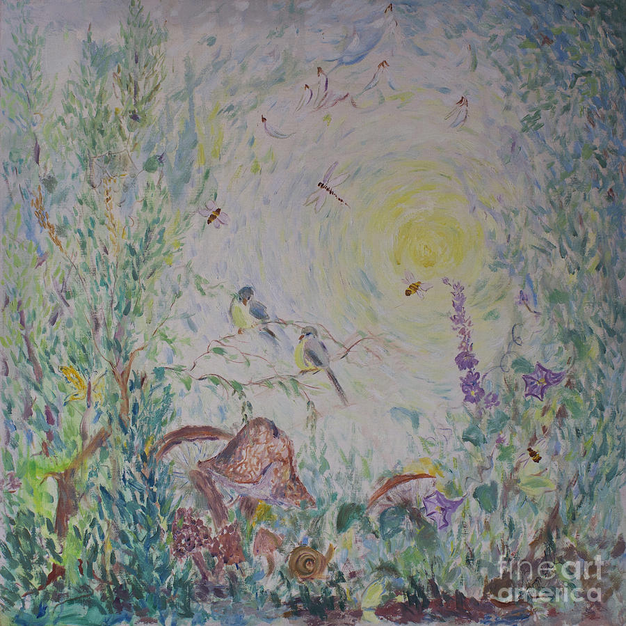 Impressionism Painting - The Morning Field by Avonelle Kelsey