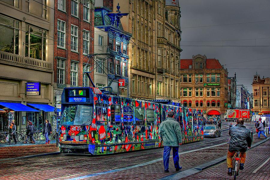 Tram Photograph - The Morning Rhythm by Ron Shoshani