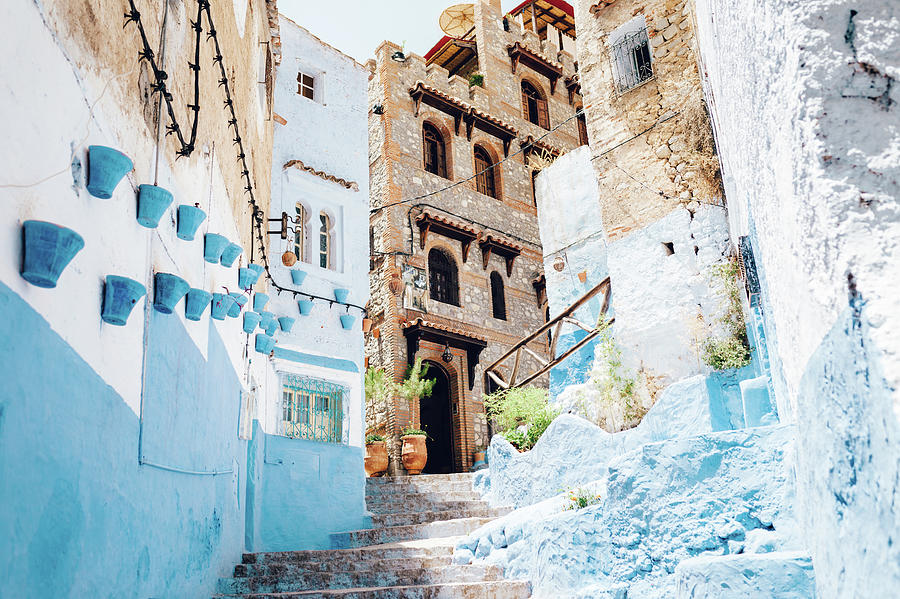 The Moroccan Blue City, Chefchaouen Photograph by Oscar Wong