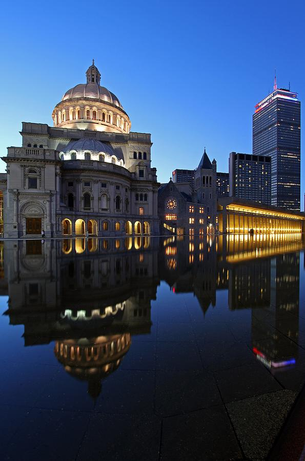 Boston Photograph - The Mother Church And The Pru by Juergen Roth