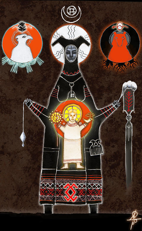 Slavic Mythology Digital Art - The Mother of God by Maxim Sukharev