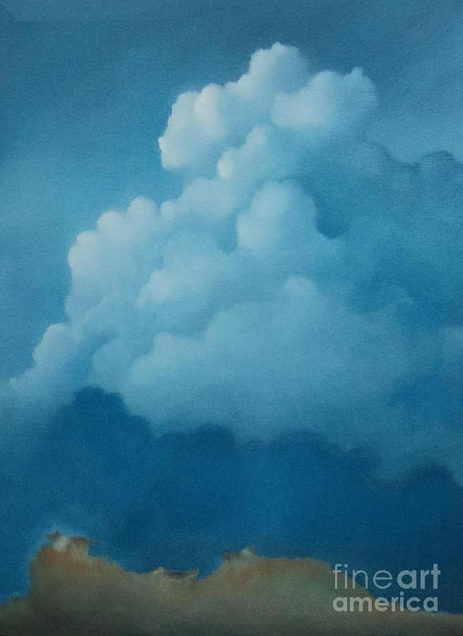Clouds Painting - The Mound by Cynthia Vaught