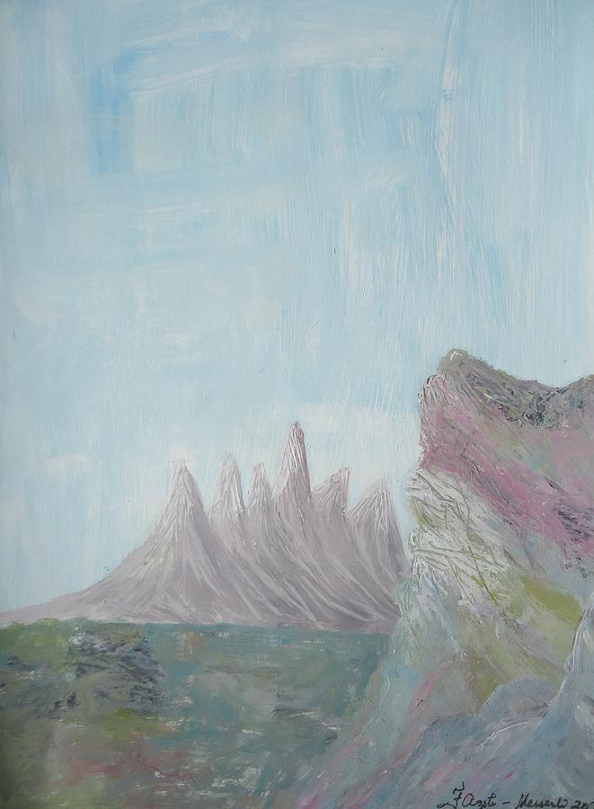 The Mountain Painting - The Mountain Gleam by Fladelita Messerli-