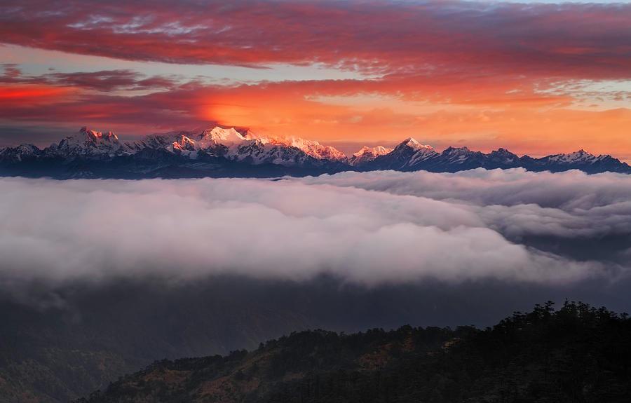 Himalaya Photograph - The Mountain Gods by Karsten Wrobel