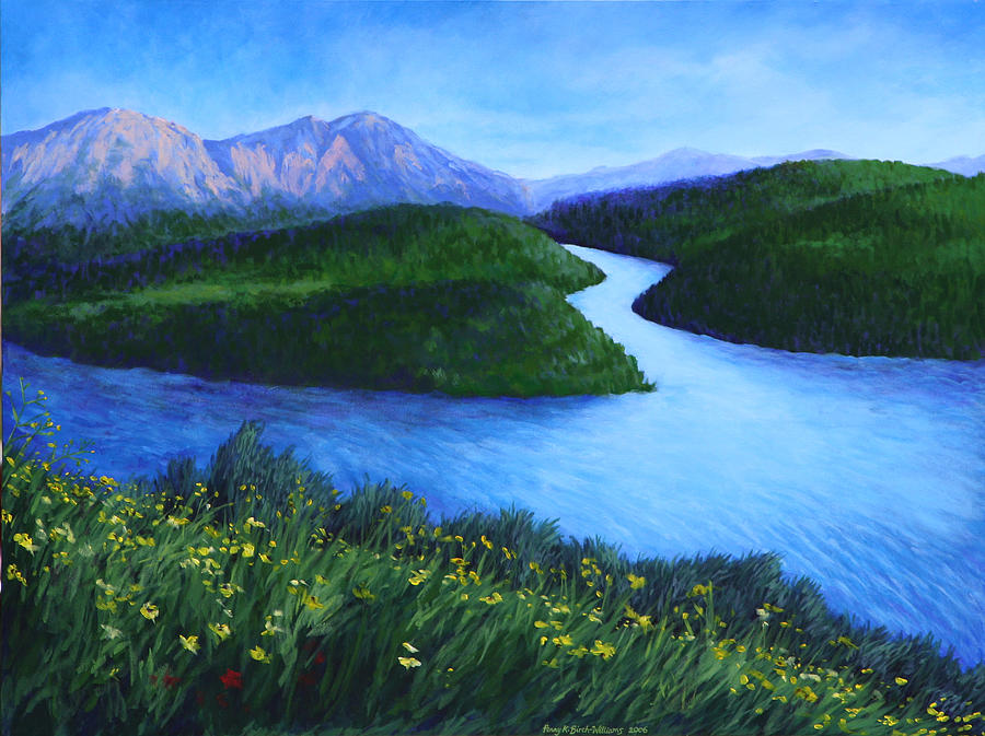 Landscape Painting - The Mountains Beyond by Penny Birch-Williams