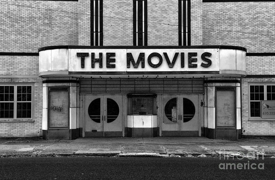 The Movies Black And White Photograph By Paul Ward