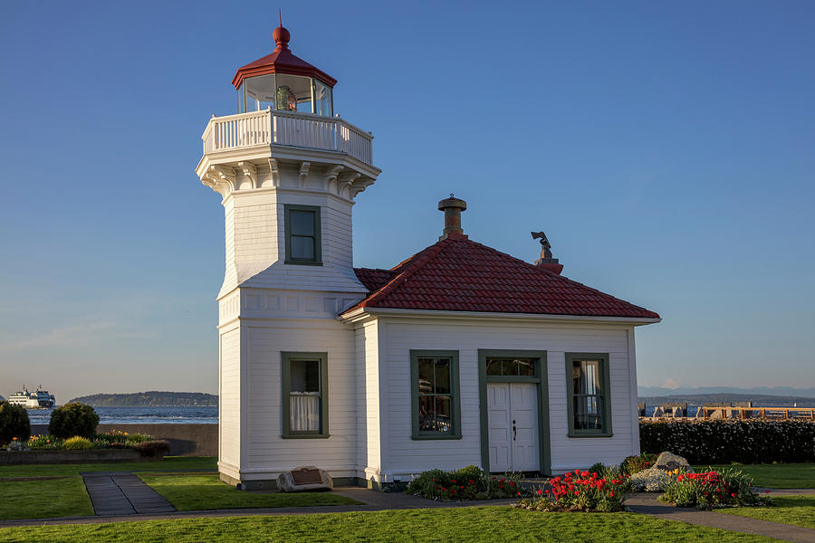 the mukilteo lighthouse in everett photograph by chuck haney