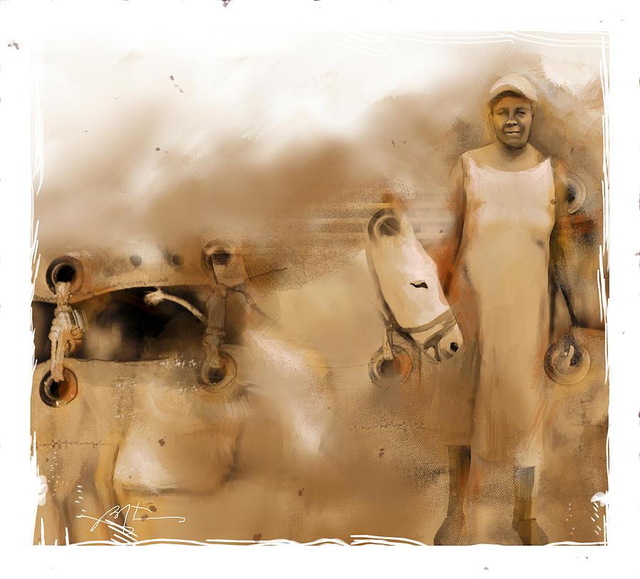 Mule Painting - The Mule Skinner by Bob Salo