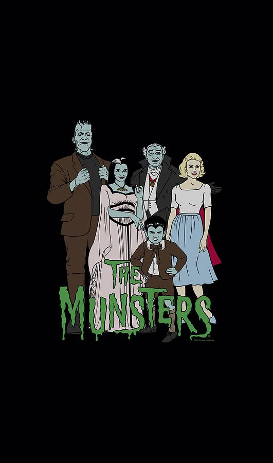 The Munsters Digital Art - The Munsters - The Family by Brand A
