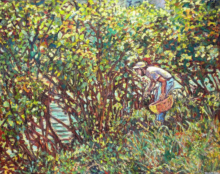 Landscape Painting - The Mushroom Picker by Kendall Kessler