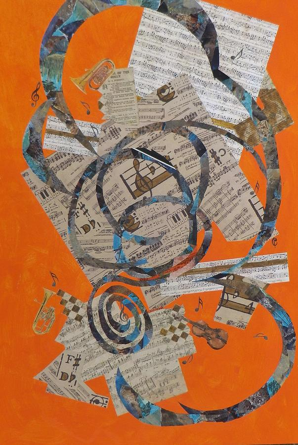Music Painting - The Music Goes Round And Round by David Raderstorf