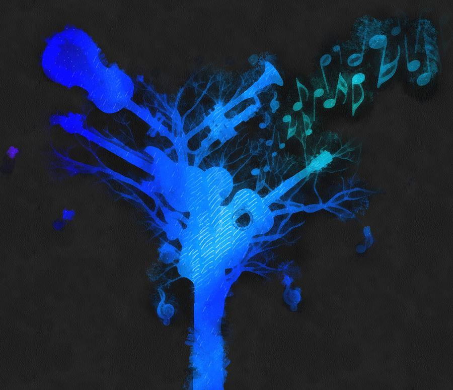 Tree Mixed Media - The Music Tree by Dan Sproul