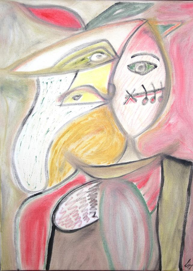 Picasso Painting - The Musician And The Muse by Csongor Licskai