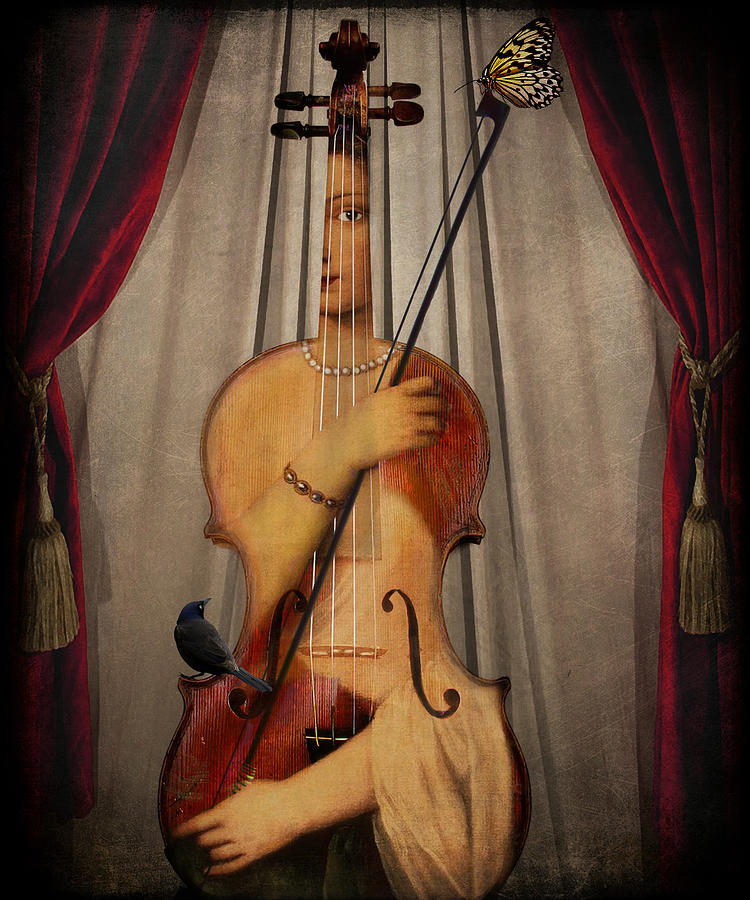 Music Digital Art - The Musician by Marie  Gale