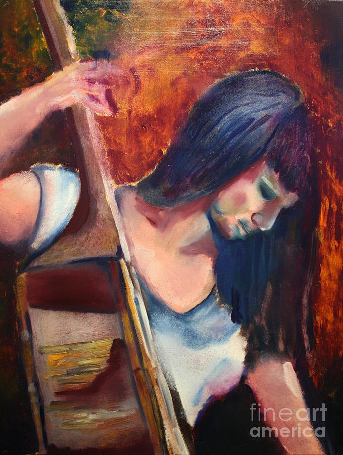 Woman Painting - The Musician by Michael Kulick