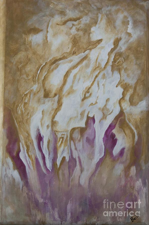 Rassouli Painting - The Mystics  the Dreamers  and Me by Bebe Brookman