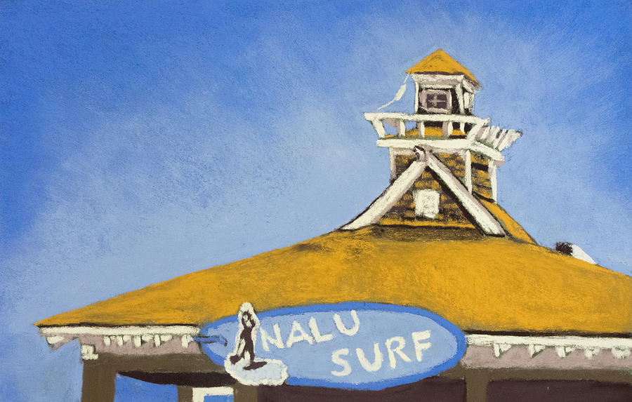 Nalu Drawing - The Nalu Surf Shack by Cristel Mol-Dellepoort