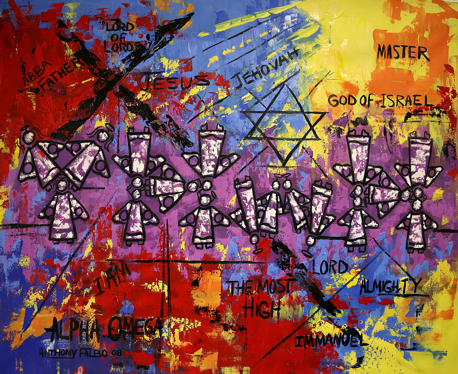 The Name Of God Painting - The Name Of God by Anthony Falbo