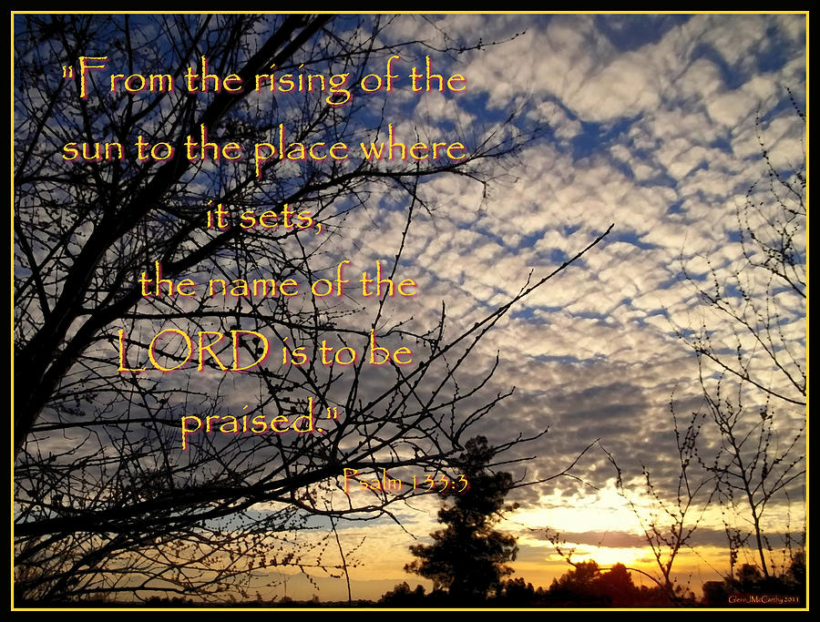 Christian Inspirational Photograph - The Name Of The Lord by Glenn McCarthy Art and Photography