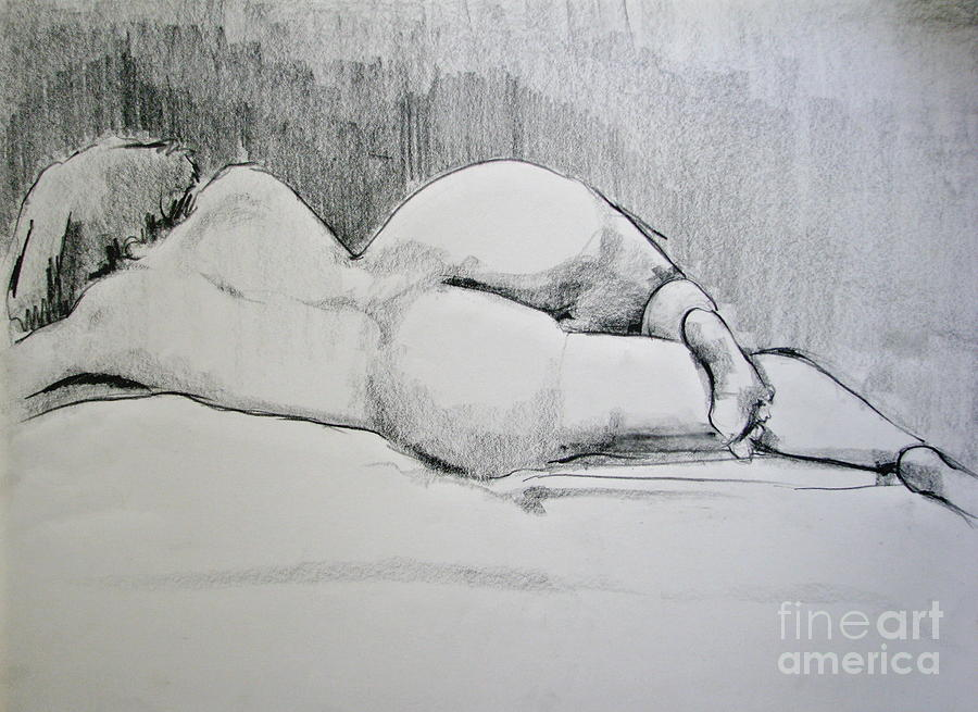 Nude Drawing - The Nap by Rory Sagner
