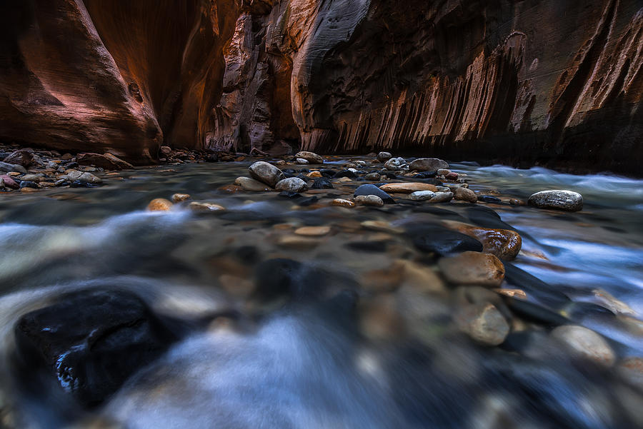 Zion Photograph - The Narrows at Zion National Park - 1 by Larry Marshall
