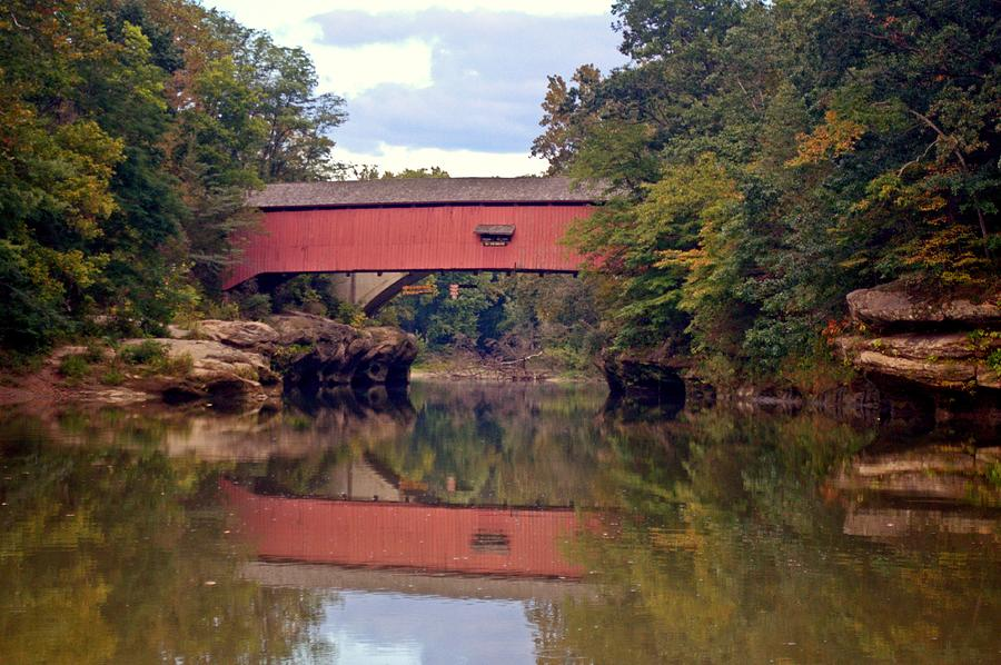 Covered Bridge Photograph - The Narrows Covered Bridge 4 by Marty Koch