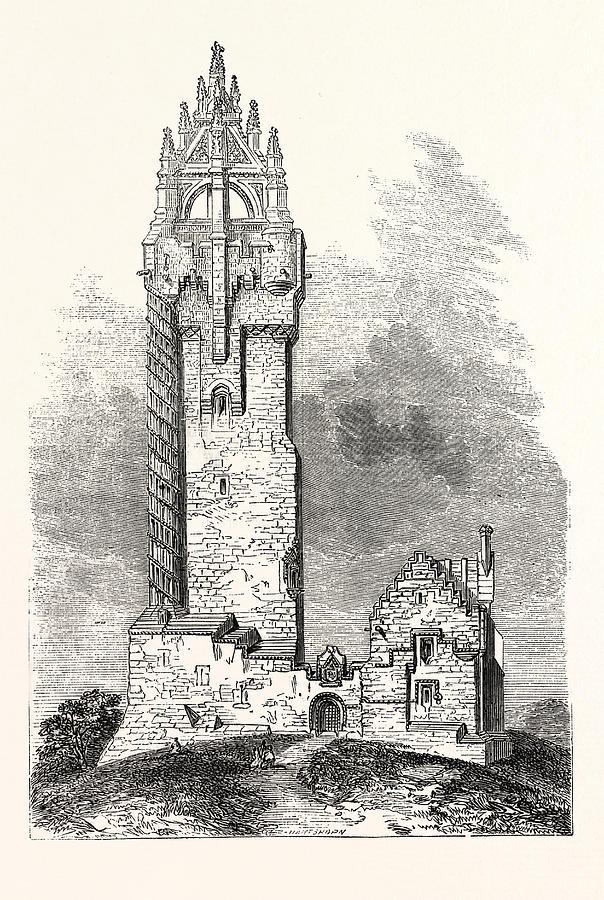 national wallace monument drawing the national wallace monument a tower standing by english school