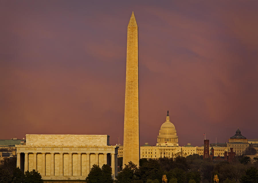 America Photograph - The Nations Capitol by Susan Candelario