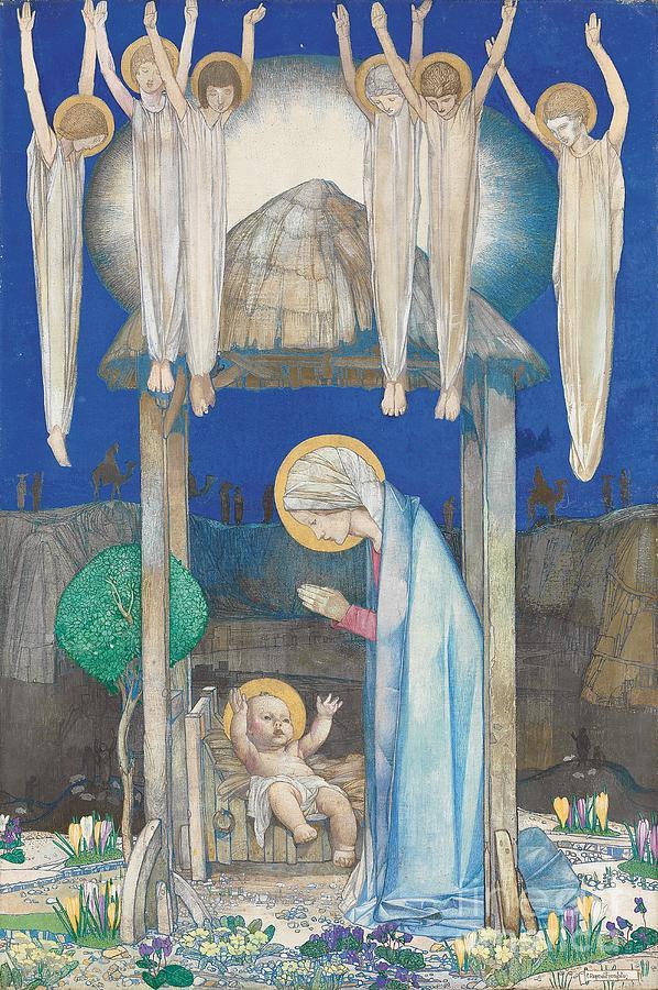 Nativity Painting - The Nativity by Edward Reginald Frampton