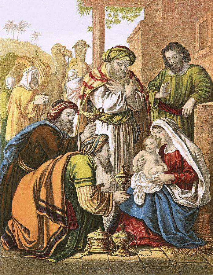 Stable Painting - The Nativity by English School