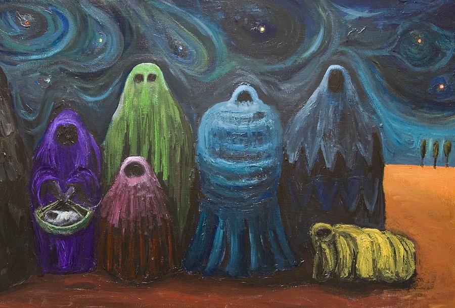Surrealism Painting - The Nativity  by Kazuya Akimoto