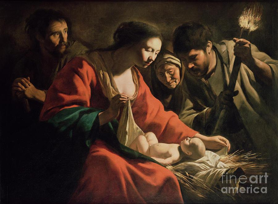 The Nativity Painting By Le Nain