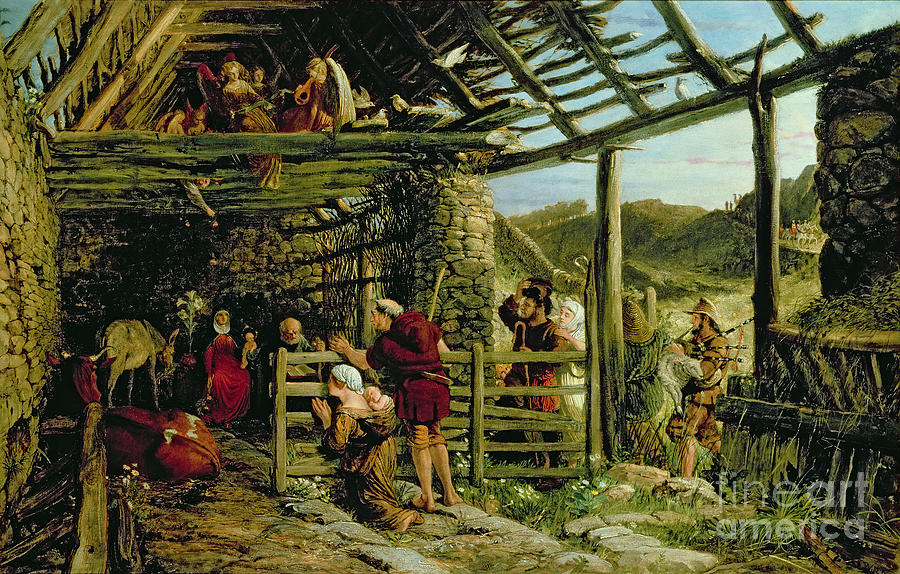 Barn Painting - The Nativity by William Bell Scott