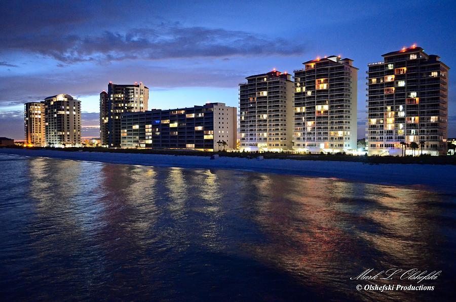 The Navarre Beach Evening  Skyline Photograph