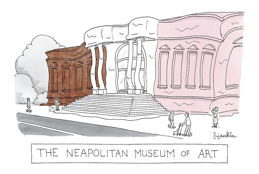 The Neapolitan Museum Of Art Drawing by Charlie Hankin