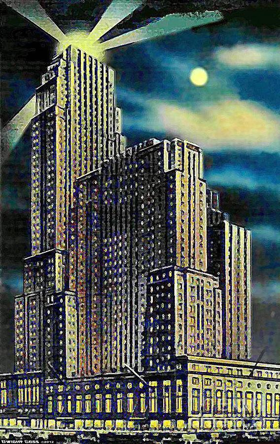 The Netherland Plaza Hotel In Cincinnati Oh Around 1930's