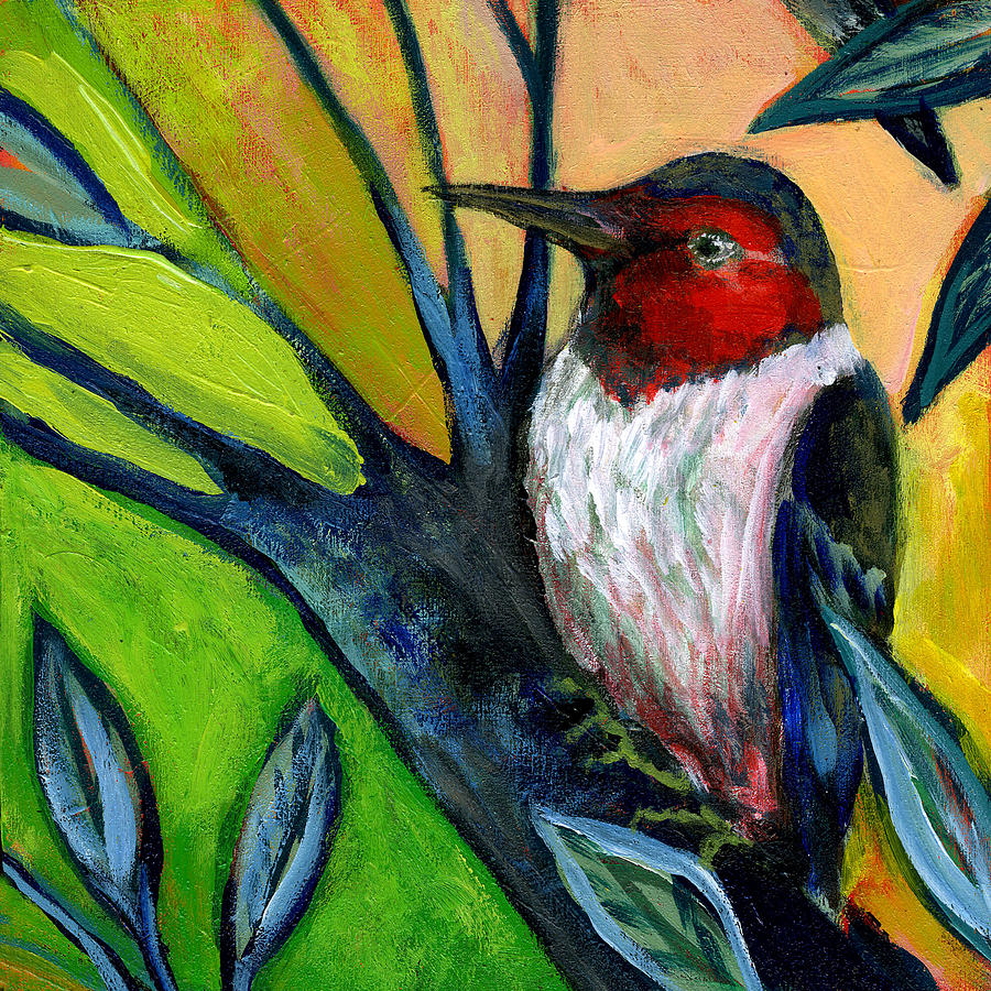Woodpecker Painting - The Neverending Story No 124 by Jennifer Lommers