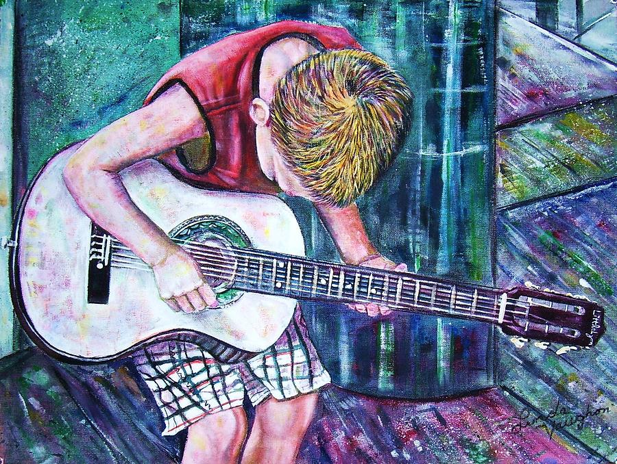 The New Guitar Painting by Linda Vaughon