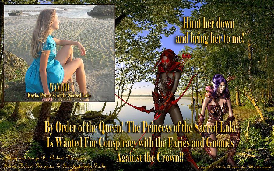 Fantasy Digital Art - Princess Of The Sacred Lake by Robert Marquiss