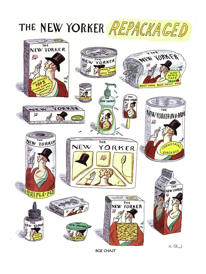 The New Yorker Repackaged Drawing by Roz Chast