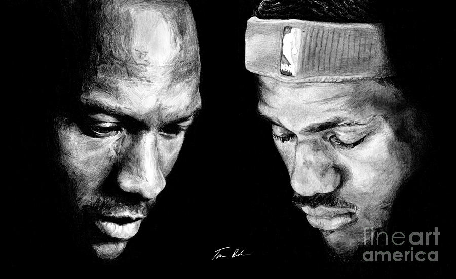 Lebron James Drawing - The Next One by Tamir Barkan