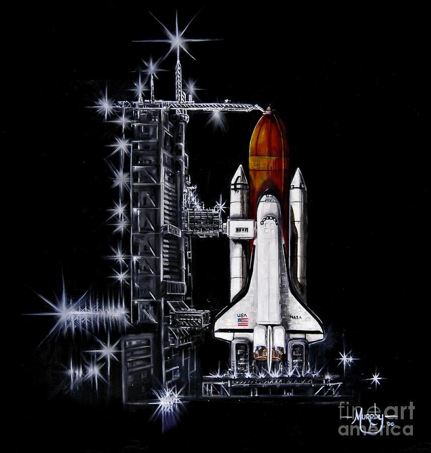 Shuttle Painting - The Night Before by Murphy Elliott