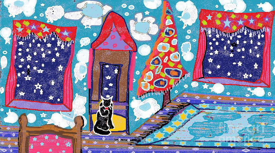 Stars Digital Art - The Night Before Xmas by Beebe  Barksdale-Bruner