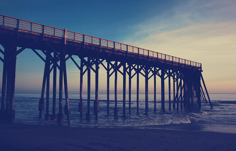 San Simeon Pier Photograph - The Night Is Coming And Were Together by Laurie Search