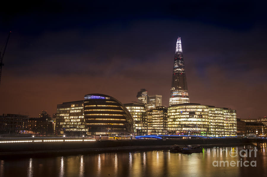 Central London Photograph - The Night Shard by Donald Davis
