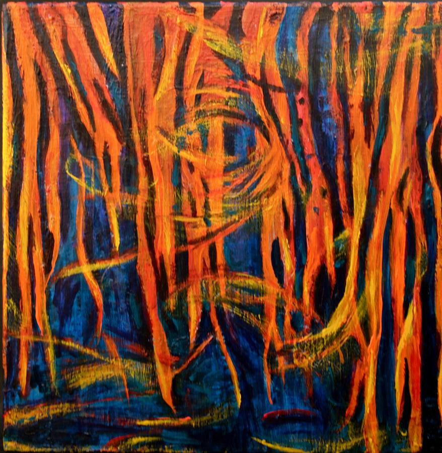 Abstract Painting - The Nightmare Of Ms by Ruth Edward Anderson