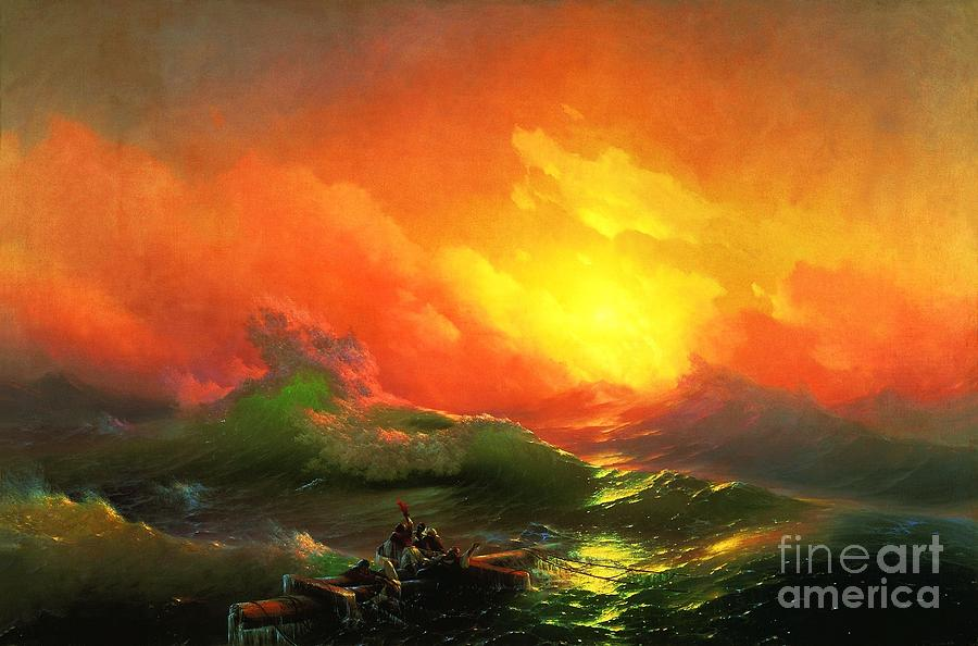 Pd Painting - The Ninth Wave by Pg Reproductions