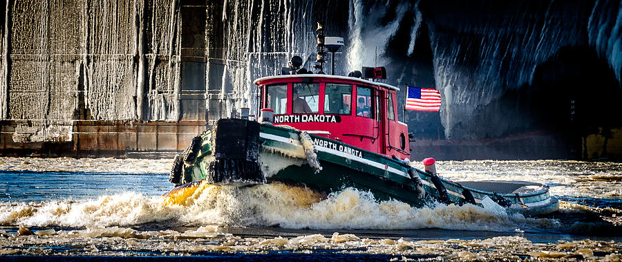 Tugboat Photograph - The North Dakota by David Wynia