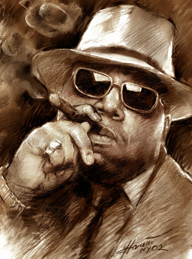 The Notorious B.i.g. Drawing - The Notorious B.i.g. by Viola El