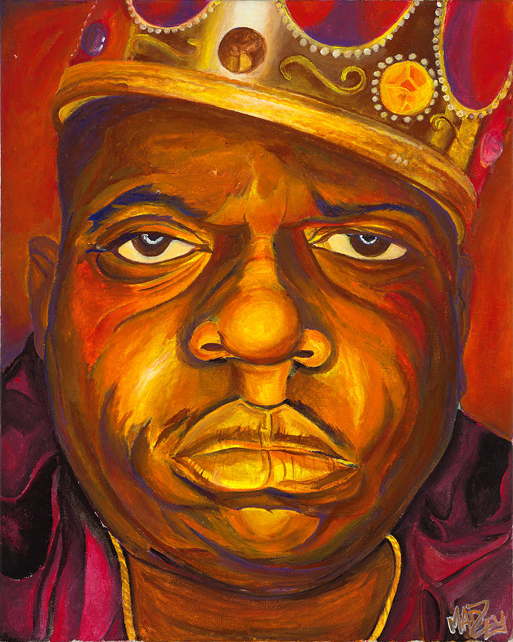the notorious big painting by ethan madzey